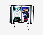 Aluminum Multi Panel Poster Display Stand