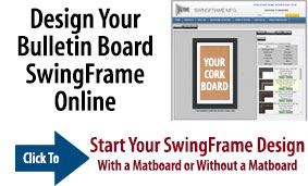 SwingFrame Bulletin Cork Boards