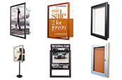 SwingFrame offers lots of  Changeable Poster Display Frames, Sign Holders and Indoor and Wall Mount Outdoor Display Cases