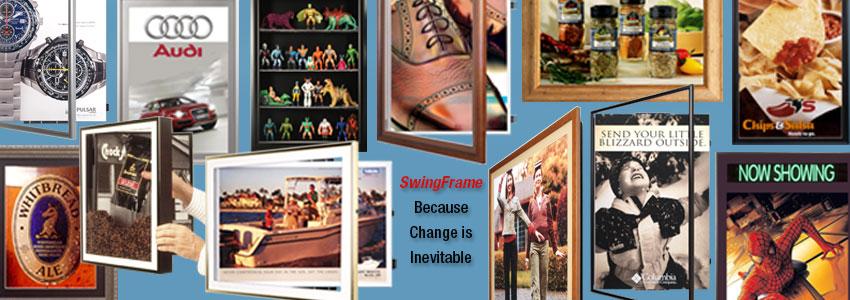 Swingframe Mfg We Build Ship Poster Frames Sign Holders Frame Displays Of All Kinds