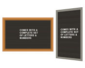 Open Face Letterboards