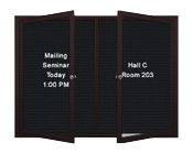 Weather Resistant Multiple Door Poster Display Swing Case Displays