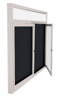 Outdoor Multiple Door Letter Board Swing Cases with Header