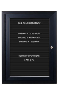 Outdoor Display Cases, for Posters, Menus, Letter Boards, Directories