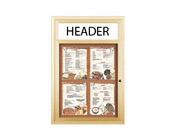 Outdoor Restaurant Menu Display Case