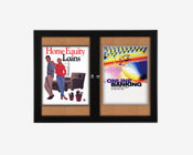Weather Proof Multiple Door Poster Swing Case Displays