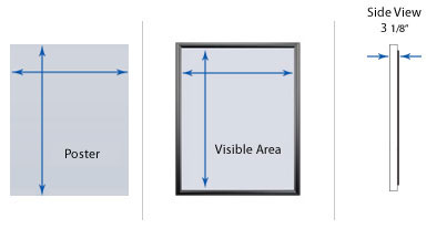 Outdoor Multiple Door Poster Swing Cases with Header & Lights
