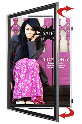 24x36 frame swingframe classic poster display frame that swings open for quick change of poster