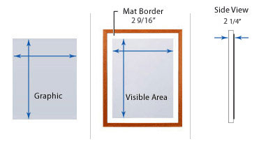 SwingFrame Edge-Lit T-4 Lightbox - Wood 353 with Matboard