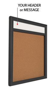 Designer Metal Bulletin Board SwingFrame with Header