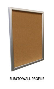 Super Wide-Face Metal Bulletin Board SwingFrame