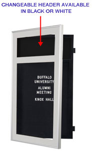 Designer Metal Letterboard SwingFrame with Header