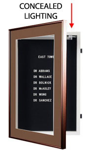 Designer Metal Letterboard SwingFrame with Lights