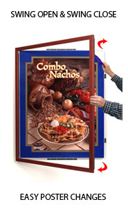 Wood 361 Poster SwingFrames Swing-Open, Fast Changing Display Frame