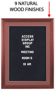 Wood 353 Letterboard SwingFrame