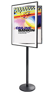 SwingFrame Mfg. Floor Sign Holder, Dual-Sided SwingStand Poster Stand