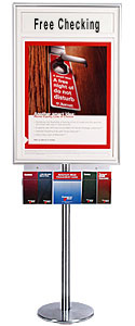 Classic Poster SwingStand with Header & Brochure Holder