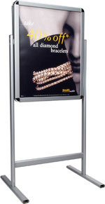 Snap Frame Dual Sided Floor Sign Holder