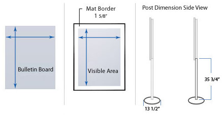Metal Bulletin Board SwingStand
