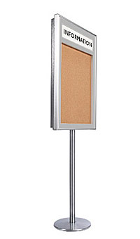 Metal Bulletin Board SwingStand with Header