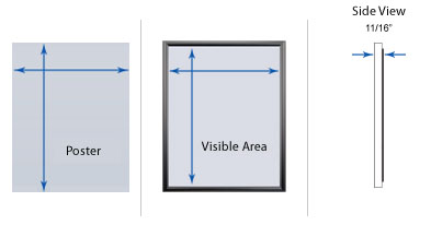 SwingSnaps Mitered Corners Front Loading Poster Frames