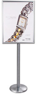 Simple Design, SwingFrame Mfg. Poster Floor Sign Stands, -Swings Open