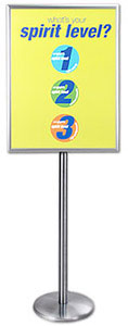 Dual-Sided, Swing-Open Attractive Metal Poster & Sign Holder Stands