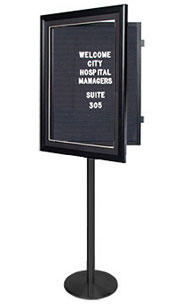 Designer Wood Letter Board SwingStand